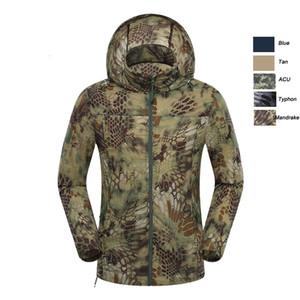 Caza al aire libre de disparo Montañismo Senderismo ropa a prueba de viento ropa de camuflaje ligero Ultra Thin NO05-123 chaqueta rompevientos