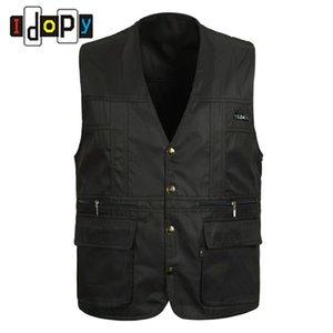 All'ingrosso- 100% cotone mens estate vestito senza maniche di lavoro per gli uomini all'aperto giacca casual giacca gilet uomo multipocket