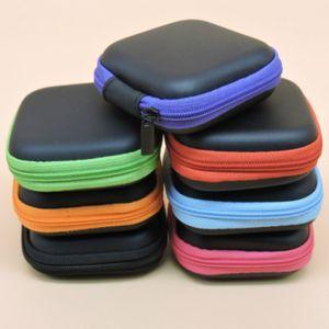 Cremallera Bolsa cable del auricular de la tarjeta Mini SD caja portátil monedero de auriculares Bolsa Estuche de bolsillo de cubierta de la bolsa de almacenamiento EVA