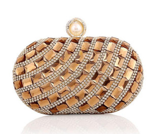New Arrival !! Vintage wedding party bags high-grade women crystal evening bags and clutches factory price gold clutch bag