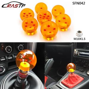 RASTP - Manual de acrílico de Dragon Ball Z Perilla del cambio de engranaje del palillo con los adaptadores cabe la mayoría de los coches 54mm adaptador RS-M10x1.5 SFN042