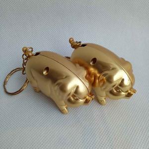 사랑스러운 큐티 미니 황금 돼지 동물 스타일 홈 인테리어 시가 담배 부탄 가스 휴대용 라이터도 제공 USB ARC 토치 제트 라이터