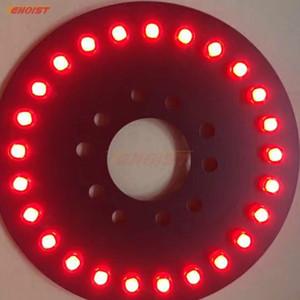 Rodada 25 Vigas COB Vermelho Azul Verde Branco Amarelo Pneu Sobressalente Luz De Freio Para Wrangler JK 07-16