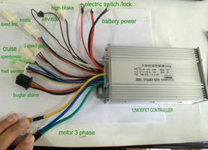 48 / 60V / 72V 500W Controlador de sinewave BLDC Controlador de motor 12Mosfet para scooter eléctrico Bicicleta eléctrica MTB Triciclo Sin alambre de aprendizaje automático