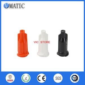 50pc Luer Syringe Caps Colore arancione Dispensing siringa Caps tappi a vite Industriali Tappi a punta per siringhe