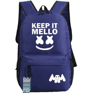 Keep it mello backpack Marshmello daypack Nice DJ fan schoolbag Music zaino Sport school bag Outdoor day pack