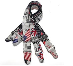 envío de la alta calidad de la edición británica de la bandera de EE.UU. Nacional Monroe PU correa de la guitarra Guitarra acústica Guitarra popular Bass correa del cinturón