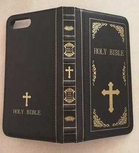 Pour iPhone 8 Holy Bible cas Cases Porte-monnaie en cuir pour iPhone 6 7 8 6s Vintage Book Wallet de Flip Cover