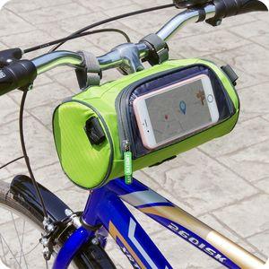 Bolso multifuncional del manillar de la bici que dobla el paquete delantero del coche de la bici de montaña del paquete de la cabeza del coche