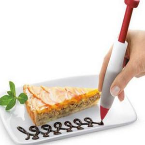Kek Tereyağı çikolata Dekoratif şırınga Silikon plaka boya kalemi kek bisküvi kek Dekorasyon kalem Ücretsiz Kargo