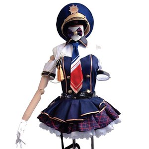 Malidaike Girls Lady Minami Kotori Policewoman Uniform Dress Anime Love Live Cosplay Costume Qute Suit para Jung Women