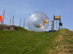 Nova Zelândia Chegada zorbing bola de rolo inflável PVC Zorb bola de Neve Esportes Humano hamster bola 3 * 2 M