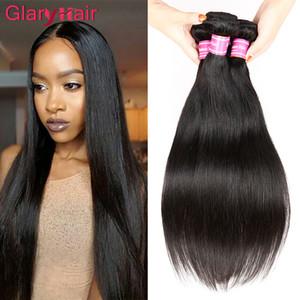 레이디의 도매 버진 페루의 말레이시아 브라질 헤어 익스텐션 탑 Qaulity 스트레이트 인간의 헤어 번들 Glary Hair Weft 무료 배송