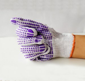 double side anti-slip-resistant cotton safety gloves working gloves Cut-resistant Anti slip Abrasion Safety Gloves