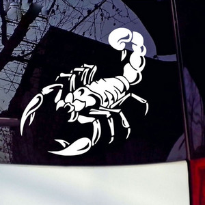 30cm Reflective Car Stickers scorpion Waterproof Decal Sticker cover anti scratch for car body Light brow front back door bumper