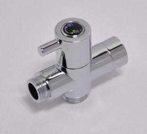 """황동 밸브 코어 for Toilet 비데 스프레이와 샤워 브래스 G1 / 2 """"크롬 무료 T - adapter"""