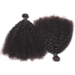 Brezilyalı Afro Kinky Kıvırcık Demetleri Insan Saç Atkı Doğal Siyah Remy Saç Uzantıları Siyah Kadınlar için Ücretsiz Nakliye Afro Kinky Kıvırcık Saç