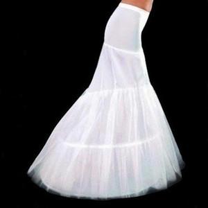Elegante bianco 2 strati sirena abito da sposa petticoat coda di pesce da sposa sottogonna slip sottoveste crinolina da sposa accessori economici
