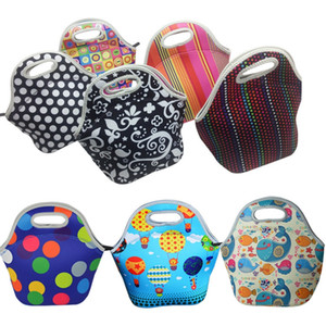 kids lunch bags 8 styles sun colorful dots ball printed children snack bags girls boys food packages good quality children outside handbags