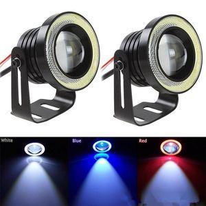 Nouveau 2 PCS 30 W 12 V COB LED Lampe De Brouillard De Voiture 2.5 / 3 / 3.5 Pouces 1200LM Auto Voiture Ange Yeux Lumière 64/76/89 mm Ampoules De Phare