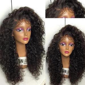 실크베이스 곱슬 곱슬 곱슬 가발 합리적인 곱슬 레이스가있는 전체 레이스 가발 정면 베이비 헤어 두꺼운 앞 레이스 가발 Vingin Human Hair