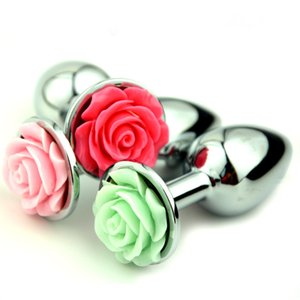 Productos Masaje Rose Plugs Plugs Metal Flower Butt Anal Anal Anal Anal Anal Para Mujeres Juguetes Hombres Sexo EODHF