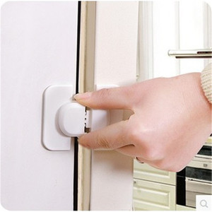Wholesale- 1pc Kids Baby Care Safety Security Cabinet Locks & Straps Products For Fridge Door