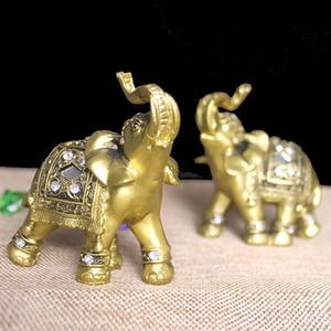 تصميم جديد الذهبي الفيل التماثيل تمثال التماثيل الراتنج حديقة أرقام المنزل الديكور الاكسسوارات محظوظ الفيل التماثيل