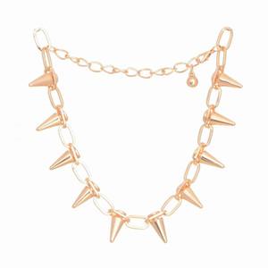 горячая личность панк ветер смысл указал заклепки Ожерелье для женщин мужчины преувеличение Спайк ожерелье металлические ювелирные изделия Бесплатная доставка SN135