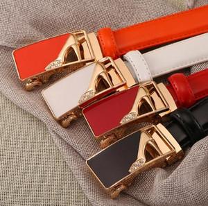 الجملة الجديدة للمرأة حزام مشبك التلقائي حزام جلد L-2036