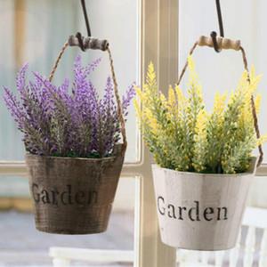 Decorazione romantica Provenza fiore di lavanda seta fiori artificiali grano decorativo Simulazione di piante acquatiche spedizione gratuita