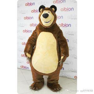 2017 großverkauf der fabrik Masha Bär Ursa Grizzly Maskottchen Kostüme Tier Masha Bär erwachsene Cartoon Maskottchen Charakter