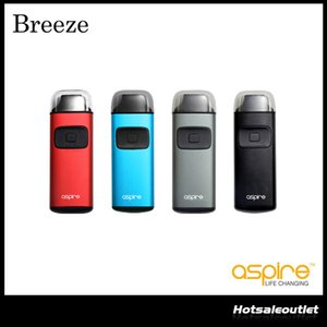 Kit Autêntico Aspire Breeze Starter com 2 ml de capacidade e-Juice 650 mAh Built-in Bateria TPD Reguladores All-in-one