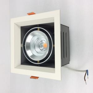 조정 천장 설치를위한 9W 15W 25W 35W LED 석쇠 광장 빛 철 주거 알루미늄 중핵 운전사 상자 붙박이