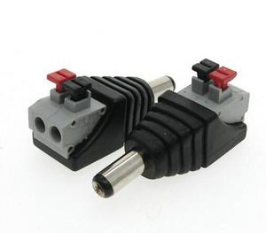 Conectores de Cabos de Computador quente DC Masculino Feminino conector 2.1 * 5.5mm DC Power Jack Adaptador Plug Conector para cor única levou tira