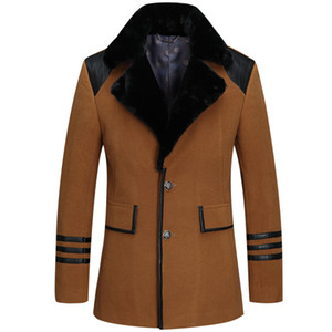 Wholesale- The new Men coat 2016 new men's trench coat long sleeves slim-fit Single-breasted men fashion trench coat YY 180