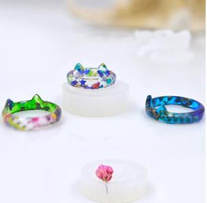 1 stück Transparent DIY Silikon Runde Katze Form Ringform Form Schmuck Machen Werkzeuge epoxidharz formen für schmuck
