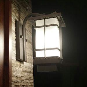New pátio chinês iluminação Clássico Ao Ar Livre Pátio Lâmpada de Parede Lâmpada Jardim Japonês Ao Ar Livre À Prova D 'Água Da Parede China vento luzes LED