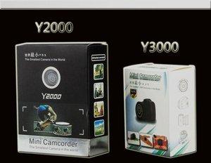 Mini videocámara Y2000 Y3000 HD 720P cámara portátil en el mundo Mini DV DVR de la cámara de bolsillo cuerpo mini cámara de vigilancia de seguridad 50pcs