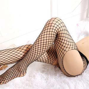 Großhandel - 2017 heiße zwei / vier seiten offene Schritt strumpfhose frauen sexy strümpfe weibliche schwarz fischnet netto erotische lingerie pantyhosen strümpfe