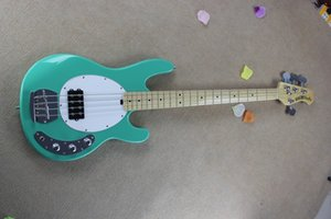Бесплатная Доставка !! Горячие продажи высокого качества Эрни мяч Musicman Music Man Sting Ray 4 строки зеленый электрическая бас-гитара HONGYU