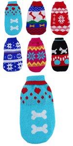 Pet apparel sweater sleeveless closefitting different style Mixed Lot 3