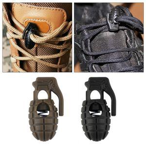 10 قطعة قنبلة شكل رباط الحذاء مشبك سدادة حبل المشبك الحبل الربيع قفل بالجملة