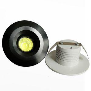 Mini Cob 3 w levou downlight levou luzes recessed lâmpada dimmable exposição lâmpada AC110-240v calor / frio branco CRI 85 + motorista UL CE SAA