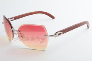 Occhiali da sole di marca - di modo delle donne gli uomini caldi casuali 8300818 decorativi di legno occhiali da sole naturale Dimensione: 56-18-135mm