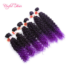 Freetress cabelo WEFT onda profunda nova cor do cabelo sintético JC 27 Jerry onda extensões de tranças de crochê roxo cabelo sintético tece atacado