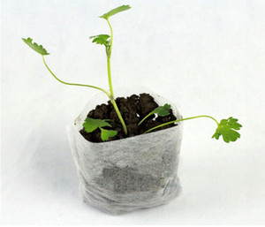 100PC-PACK 꽃 식물 유기농 야채 종자 발아 모종 새싹 절단은 냄비 부직포 가방 통기성 분해성 성장 복제