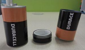 scatola della pillola della polvere della stash scatola del metallo sicuro che fuma gli accessori Diversion Pill Box Hidden Money Coins Container Case 34 * 60mm 2 style
