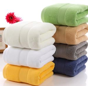 Solide Couleur 100% serviette de bain en coton pour adultes 7 types couleurs bain douche épaisse serviette