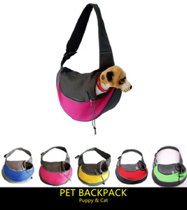 Il più popolare petto anteriore Pet Dog Backpack Carriers Puppy Cat Outdoor Messenger Bag Trasparente Traspirante Dog Travel Shoudler bag